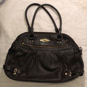 Elliott Lucca black leather handbag